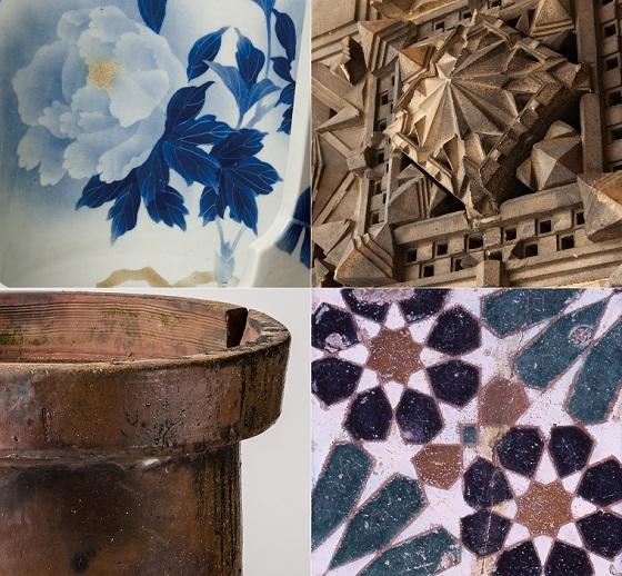 Objet d'art collection: tiles, architectural terracotta, and assorted ceramic wares